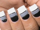Striping tape nail art tutorial How to do nail striping stripe nails tape tutorial DIY cheerleaders