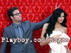 Seth Rogen & Miss April Playboy Cover Shoot