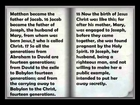 Audio Bible: The Book of Genealogy of Jesus Christ (Mathew Chapter 1)