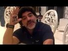 Maradona saluda a Diego Fernando, su hijo recién nacido - Febrero 2013