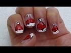 Christmas Nail Art Tutorial - Santa Cap