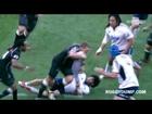 Jean Deysel gets shirt ripped, plays on