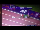 Ethiopian Birhan Getahun slammed into the hurdle during the 3000 stepplechase qualification