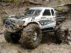 RC ADVENTURES - AXIAL SCX10 HONCHO MONSTER TRUCK -  CONQUERING MUDDY FOREST TRAILS