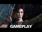 Tomb Raider Gameplay - Hunting Bow Acquired (Cam) - Comic-Con 2012