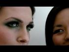 Create a green smoky eye