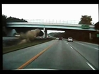 Craziest Car Wreck EVER on 675! Car Ramps Into Overpass! (Cruiser Cam & News Story)